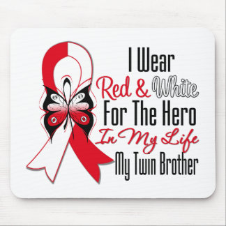 Oral Cancer Ribbon Hero My Twin Brother Mouse Pad
