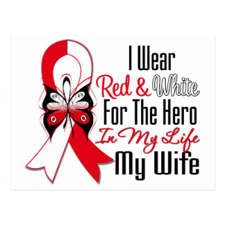 Oral Cancer Ribbon Hero My Wife Postcards