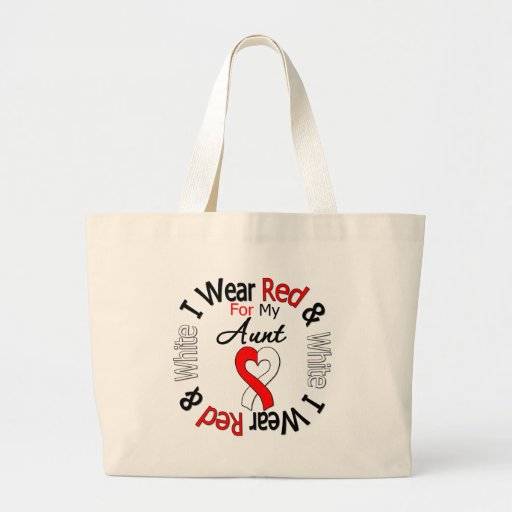 Oral Cancer Ribbon Support Aunt Bag