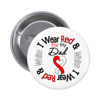 Oral Cancer Ribbon Support Dad 2 Inch Round Button