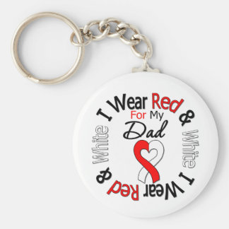 Oral Cancer Ribbon Support Dad Key Chains