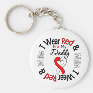 Oral Cancer Ribbon Support Daddy Basic Round Button Keychain