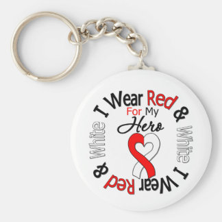 Oral Cancer Ribbon Support Hero Basic Round Button Keychain