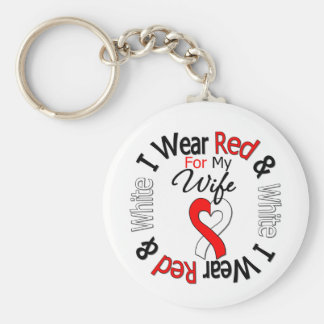 Oral Cancer Ribbon Support Wife Key Chains