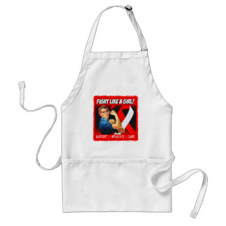 Oral Cancer Rosie Riveter - Fight Like a Girl Adult Apron