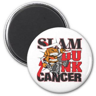 Oral Cancer - Slam Dunk Cancer Refrigerator Magnet
