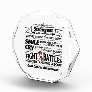 Oral Cancer Strongest Among Us Acrylic Award