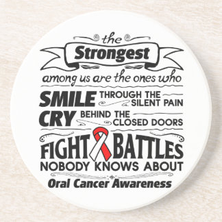 Oral Cancer Strongest Among Us Drink Coaster