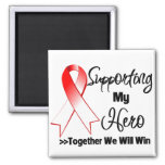Oral Cancer Supporting My Hero Fridge Magnet