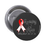 Oral Cancer Supporting My Hero Pin