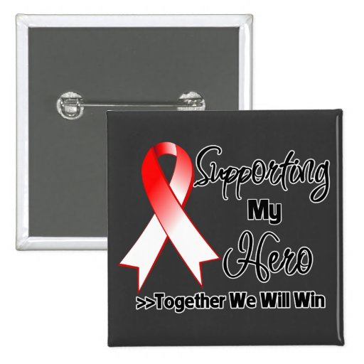 Oral Cancer Supporting My Hero Pinback Buttons