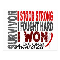 Oral Cancer Survivor 4 Postcard