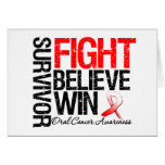 Oral Cancer Survivor Fight Believe Win Motto Cards