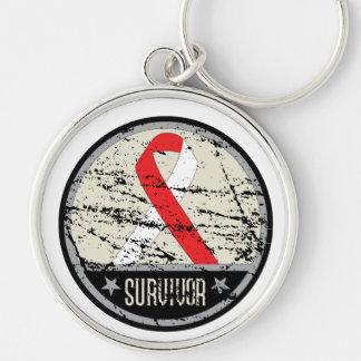 Oral Cancer Survivor Mens Vintage Key Chains