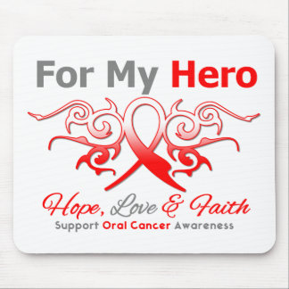 Oral Cancer Tribal Ribbon Hero Mousepads
