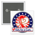 Oral Cancer Vote For a Cure Pinback Buttons