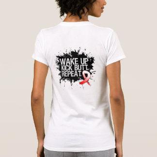Oral Cancer Wake Up Kick Butt Repeat Tshirt