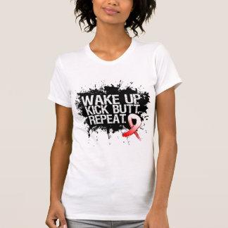 Oral Cancer Wake Up Kick Butt Repeat Shirt