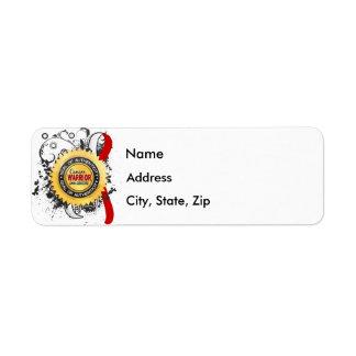 Oral Cancer Warrior 23 Return Address Label