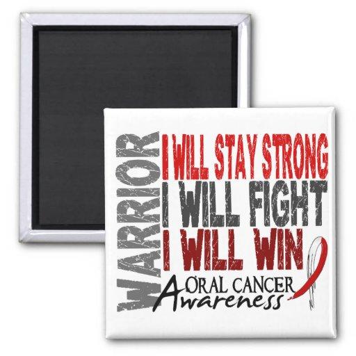 Oral Cancer Warrior 2 Inch Square Magnet