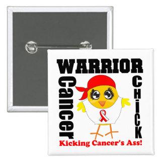 Oral Cancer Warrior Chick 2 Inch Square Button