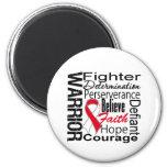 Oral Cancer Warrior Collage 2 Inch Round Magnet