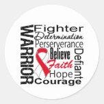 Oral Cancer Warrior Collage Classic Round Sticker