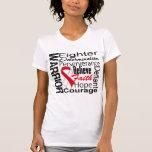 Oral Cancer Warrior Collage T Shirt
