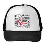 Oral Cancer Warrior Collage Trucker Hat