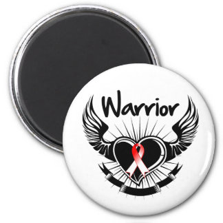 Oral Cancer Warrior Fighter Wings Refrigerator Magnets