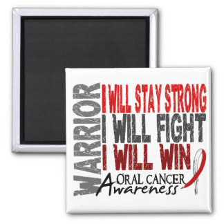 Oral Cancer Warrior Fridge Magnet
