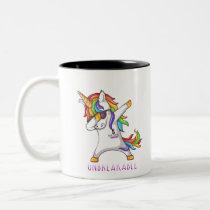 ORAL CANCER Warrior Unbreakable Two-Tone Coffee Mug