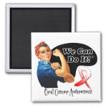 Oral Cancer We Can Do It Rosie The Riveter Fridge Magnet