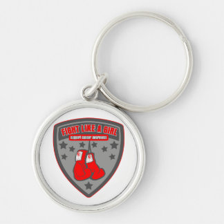 Oral Cancer Wear Fight Like A Girl Patch Keychains