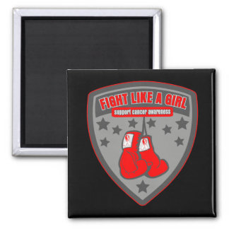 Oral Cancer Wear Fight Like A Girl Patch Magnets