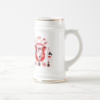 Oral chuck entrance (Mouth zipper entrance) Beer Stein