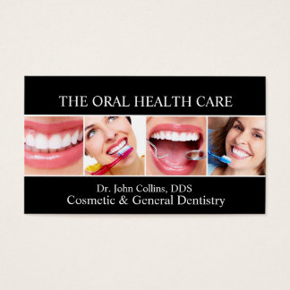 Oral Dental Health Care Dentistry Dentist Business Card