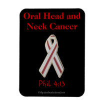 Oral Head & Neck Cancer Awareness Magnet
