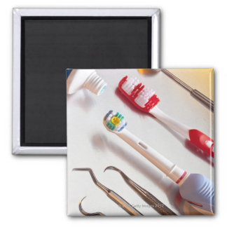 Oral Hygiene - Electric toothbrush, manual 2 Inch Square Magnet