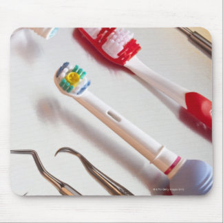 Oral Hygiene - Electric toothbrush, manual Mouse Pad