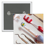 Oral Hygiene - Electric toothbrush, manual Pinback Button