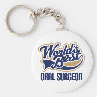 Oral Surgeon Gift Basic Round Button Keychain