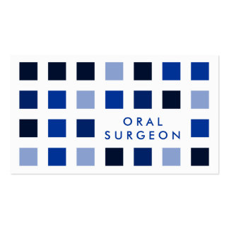 ORAL SURGEON (mod squares) Double-Sided Standard Business Cards (Pack Of 100)