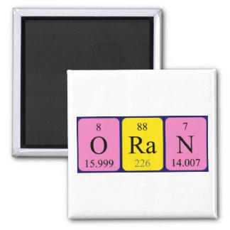 Oran periodic table name magnet
