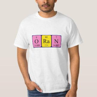 Oran periodic table name shirt