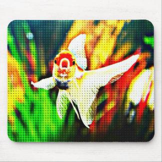 Oranda Goldfish Pop Art Colorful Mouse Pad