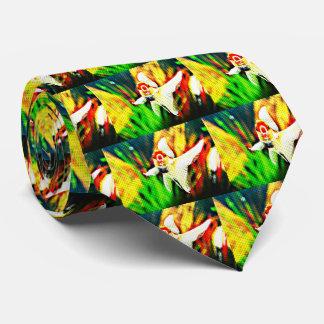Oranda Goldfish Pop Art Colorful Tie