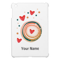 orane and red, heart cute love case for the iPad mini