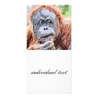 orang incompleto tarjeta personal con foto