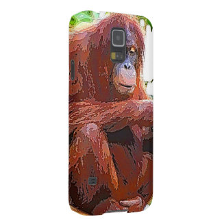 orang painting galaxy s5 cover